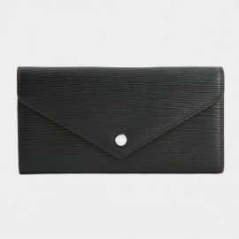 Startown Buttoned Envelope Long Black Wallet (LD2159)
