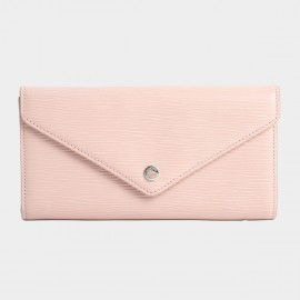 Startown Buttoned Envelope Long Pink Wallet (LD2159)