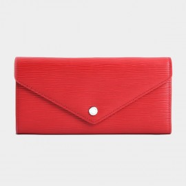 Startown Buttoned Envelope Long Red Wallet (LD2159)