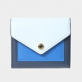 Startown Triple Color Envelope Short Blue Wallet (LD2163)