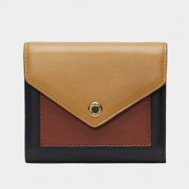 Startown Triple Color Envelope Short Brown Wallet (LD2163)
