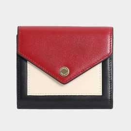Startown Triple Color Envelope Short Red Wallet (LD2163)