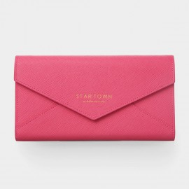 Startown Buttoned Envelope Long Rose Wallet (LD248A)