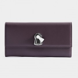 Startown Keylock Extra Long Zipper Purple Wallet (LD3721)