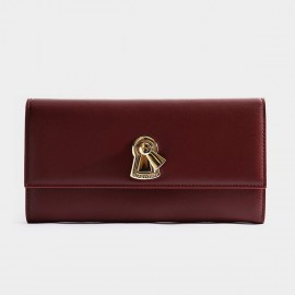Startown Keylock Extra Long Zipper Red Wallet (LD3722)