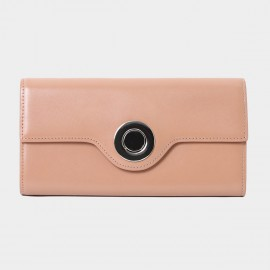 Startown Silver Round Buckle Long Nude Wallet (LD374)