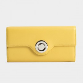 Startown Silver Round Buckle Long Yellow Wallet (LD374)