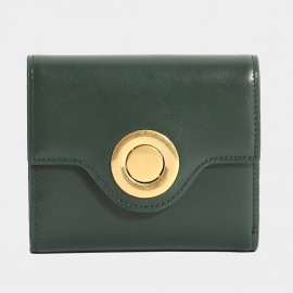 Startown Silver Round Buckle Short Green Wallet (LD375)