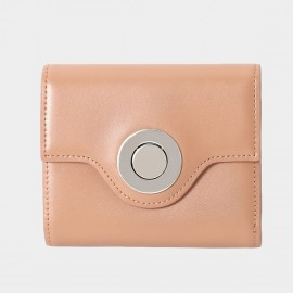 Startown Silver Round Buckle Short Nude Wallet (LD375)