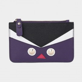Startown Robot Face Extra Thin Purple Wallet (QT0212)