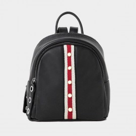 Startown Pearl Strip Black Backpack (QT83032)