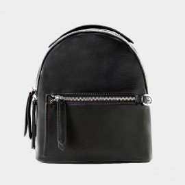 Startown Round Back Zipper Black Backpack (QT9125)
