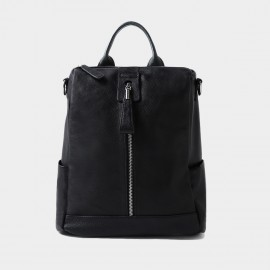 Startown All Around Zipper Black Backpack (QT9811)