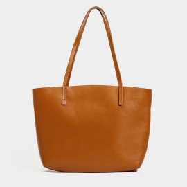 Startown Wide Opening Brown Tote (WLA161980)