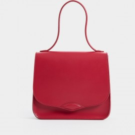 Startown Simple Lid Squared Red Satchel (WLA164490)