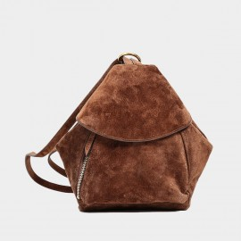 Startown Folded One Side Brown Backpack (WLA164500)