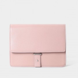 Startown Simple Buckled Lid With Zipper Pink Satchel (WLA171270)