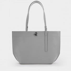 Startown Buckled Grey Tote (WLA171370)