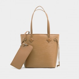 Startown Zipper Brown Tote (XL8955)