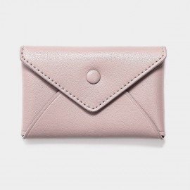 Startown Buttoned Envelope Tiny Pink Coin Purse (WLA165410)