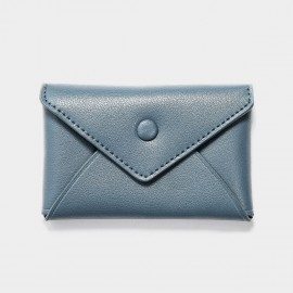 Startown Buttoned Envelope Tiny Blue Coin Purse (WLA165410)