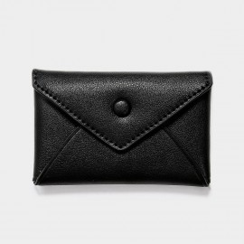 Startown Buttoned Envelope Tiny Black Coin Purse (WLA165410)