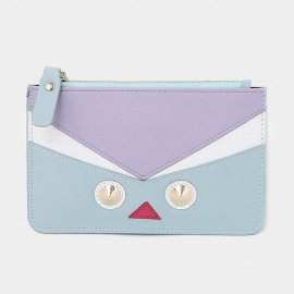 Startown Robot Face Extra Thin Blue Wallet (QT0212)