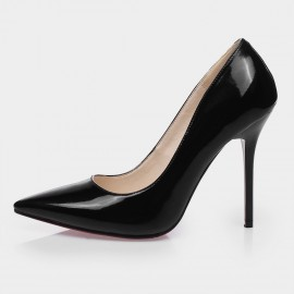 Jady Rose Layla Leather Black Pumps (15DR1-2002)