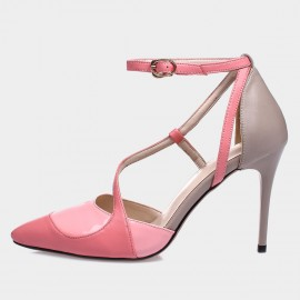 Jady Rose Tira Leather Pink Pumps (15DR1-2006)