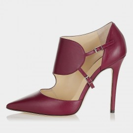Jady Rose Hazzle Leather Red Pumps (15DR1-2008)
