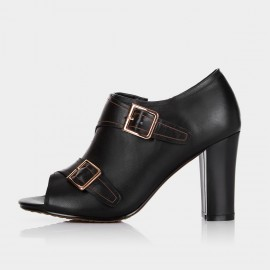 Jady Rose Elsie Leather Black Boots (15CR1-0001)