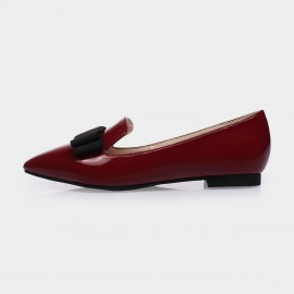 Jady Rose Margo Leather Red Flats (15DR1-2014)