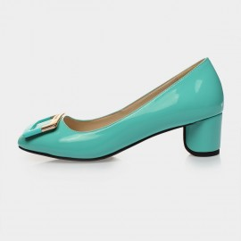 Jady Rose Aria Leather Blue Pumps (15DR1-2016)