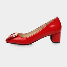 Jady Rose Aria Leather Red Pumps (15DR1-2016)