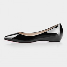 Jady Rose Vela Leather Black Flats (15DR1-2019)