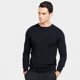 Basique Long Sleeves Crew Neck Black Knit (05.0043)