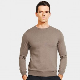 Basique Long Sleeves Crew Neck Camel Knit (05.0043)