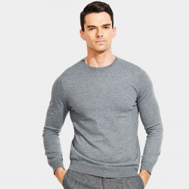 Basique Long Sleeves Crew Neck Grey Knit (05.0043)