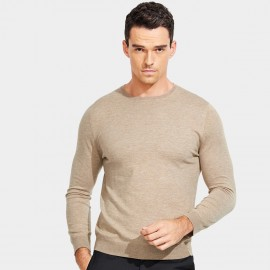 Basique Long Sleeves Crew Neck Khaki Knit (05.0043)