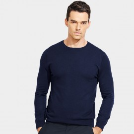Basique Long Sleeves Crew Neck Navy Knit (05.0043)
