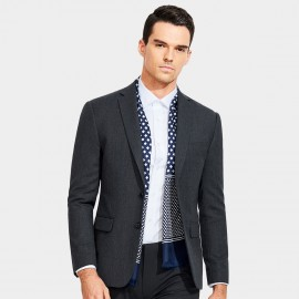 Basique Two-Button Charcoal Blazer (06.0014)