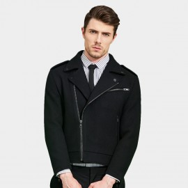 Basique Multi Zipper Black Jacket (08.0024)