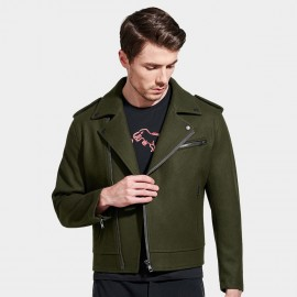 Basique Multi Zipper Green Jacket (08.0024)