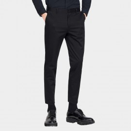 Basique Basic Regular Fit Ankle Black Pant (22.0017)