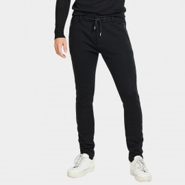 Basique Long Sport Zip Black Pants (26.0005)
