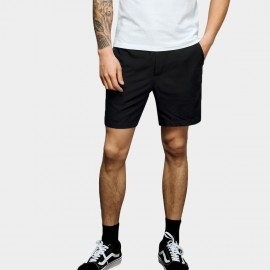 Basique Subtle Contrast Black Shorts (21.0019)