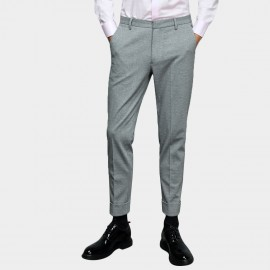 Basique Trendy Rolled Grey Pants (25.0022)