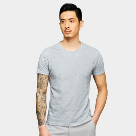 Basique Basic Short Sleeve Grey Tee (01.0078)