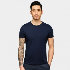 Basique Basic Short Sleeve Navy Tee (01.0078)