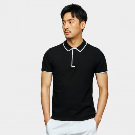 Basique Visible Edge Black Polo (02.0022)